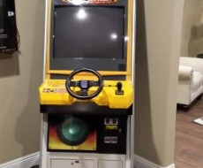 Full view of Crazy Taxi upright video arcade game for sale
