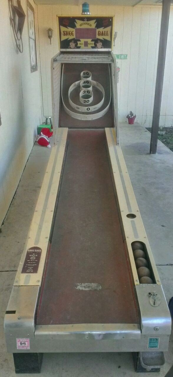 Full view of Skee Ball machine for sale in TexasFull view of Skee Ball machine for sale in Texas