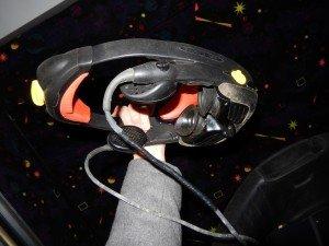 Headgear for CyberMind virtual reality game SU 2000 cyberbase Intercon-x