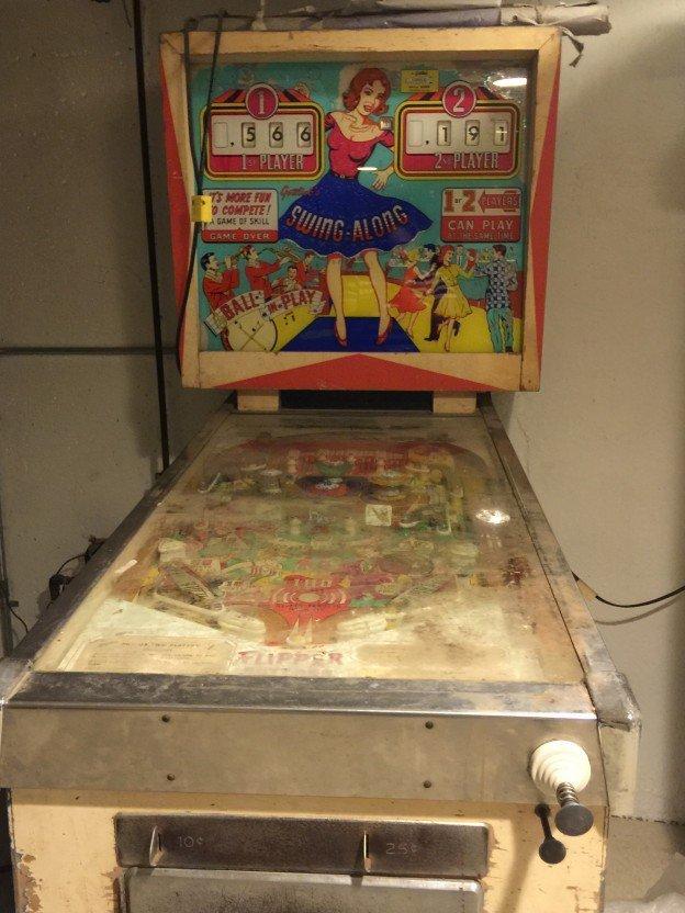 Swing along pinball machine for sale in Massachusetts